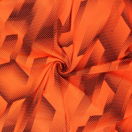 Sport Mesh fabric - neon orange Athletic x 10cm