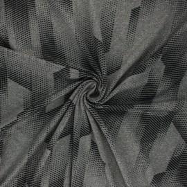 Tissu Mesh spécial sport Athletic - gris chiné x 10cm