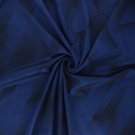 Tissu Mesh spécial sport Athletic - bleu encre x 10cm