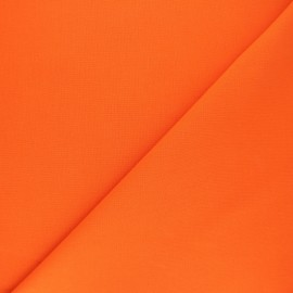 Plain cotton fabric - tangerine Nuance x 10cm