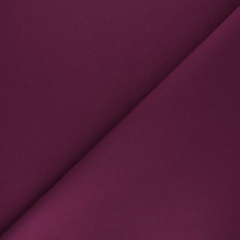 Plain cotton fabric - plum purple Nuance x 10cm