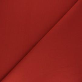 Tissu Coton uni Nuance - rouge brique x 10cm
