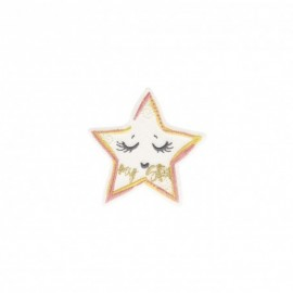 Iron-on patch Sleepy - pink My star