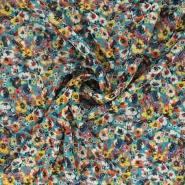 Tissu Mousseline Claudie - bleu canard x 50cm