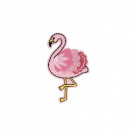 Iron-on patch Animaux feutrine - Flamant rose