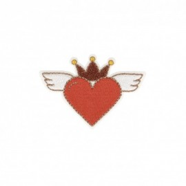Iron-on patch Heaven heart - red