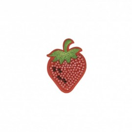 Iron-on patch pearl Fraise - red