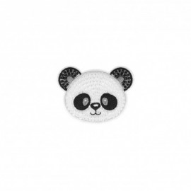 Iron-on patch pearl Panda - white
