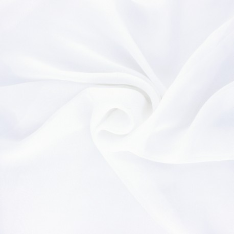 Silk Muslin Fabric - white x 50cm