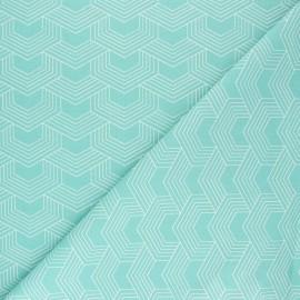 Tissu coton cretonne Orto - bleu céladon x 10cm