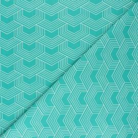 Tissu coton cretonne Orto - vert x 10cm