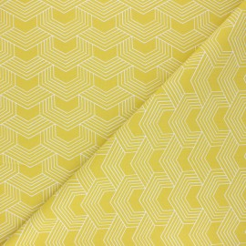 Cretonne cotton Fabric - yellow Orto x 10cm