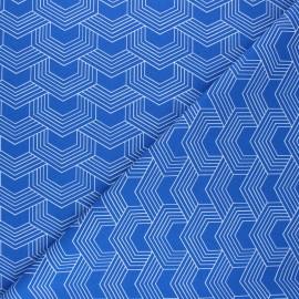 Cretonne cotton Fabric - blue Orto x 10cm