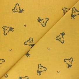 Cretonne cotton Fabric - mustard yellow Luan x 10cm