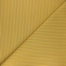 Tissu coton cretonne Gildwin - moutarde x 10cm