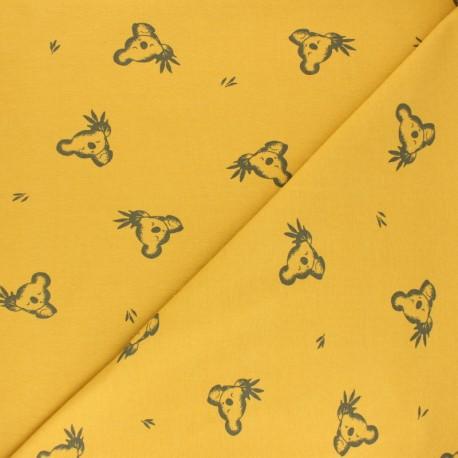 Tissu jersey Luan - moutarde x 10cm