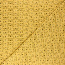 Tissu jersey Mikoa - moutarde x 10cm