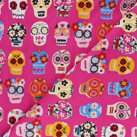 Cotton Dashwood fabric - Calavera Fiesta x 10cm