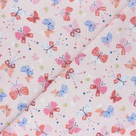 Tissu coton Dashwood Celeste - rose x 10cm
