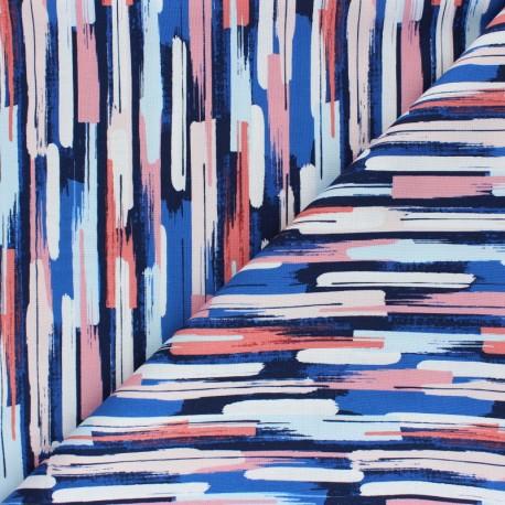 Cotton Dashwood fabric - Stripes Celeste x 10cm