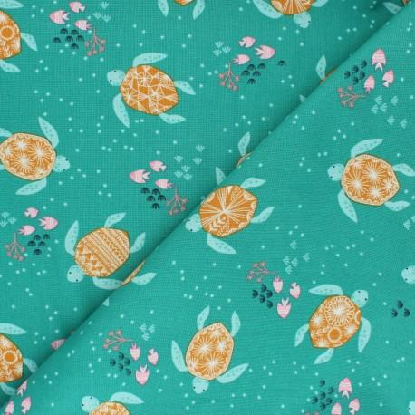 Cotton Dashwood fabric - Turtles Into the Blue x 10cm