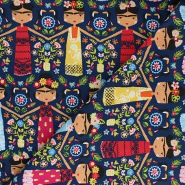 Tissu coton Dashwood Fiesta - Frida Kahlo x 10cm