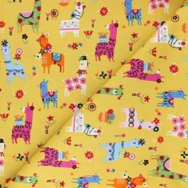 Cotton Dashwood fabric - Lama Fiesta x 10cm