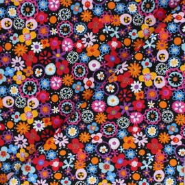 Cotton Dashwood fabric - Fleurs en folie Festia x 10cm