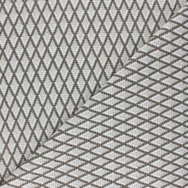 Tissu maille jacquard lurex Elinor - écru x 10 cm