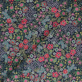 Tissu Batiste de coton Dashwood Studio Fleuri - vert  x 10cm