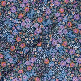Tissu Batiste de coton Dashwood Studio Fleuri - violet  x 10cm