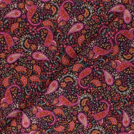 Tissu Batiste de coton Dashwood Studio Cachemire - noir x 10cm