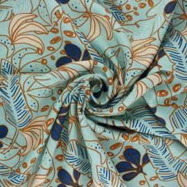 Tissu viscose Guzalor - bleu céladon x 10cm