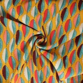 Tissu viscose Gofao - jaune moutarde x 10cm