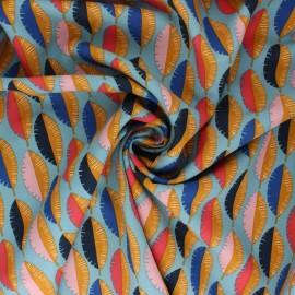 Tissu viscose Gofao - bleu x 10cm