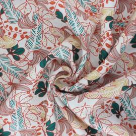 Domotex Viscose Fabric - coral pink Poyo x 10cm