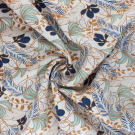 Tissu viscose Poyo - bleu x 10cm