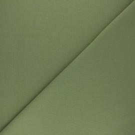Tissu Coton uni Nuance - vert kaki x 10cm