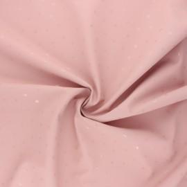 Tissu enduit spécial ciré Pois brillants - rose x 10cm