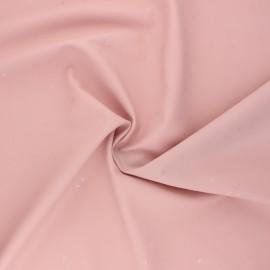 Tissu enduit spécial ciré Etoiles - rose x 10cm