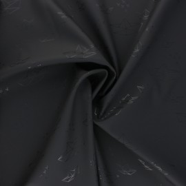 Tissu enduit spécial ciré Bateau Origami - gris x 10cm