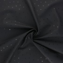 Special rain waterproof fabric - grey Pois brillants x 10cm