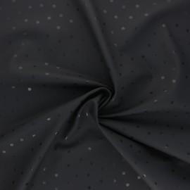 Tissu enduit spécial ciré Pois brillants - gris x 10cm