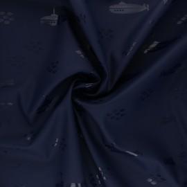 Tissu enduit spécial ciré Sous-marin - bleu marine x 10cm