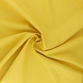 Tissu enduit spécial ciré Pois brillants - jaune x 10cm