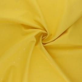 Tissu enduit spécial ciré Etoiles - jaune x 10cm