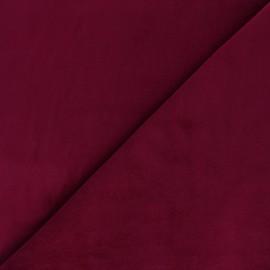 Short velvet fabric Bradford - burgundy x 10cm