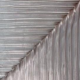Tissu polyester plissé métallisé Alexia - cuivre x 10cm