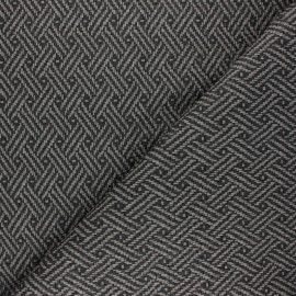 Braided Leather Imitation fabric - grey Kezia x 10cm