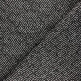 Simili cuir tressé Kezia - gris x 10cm